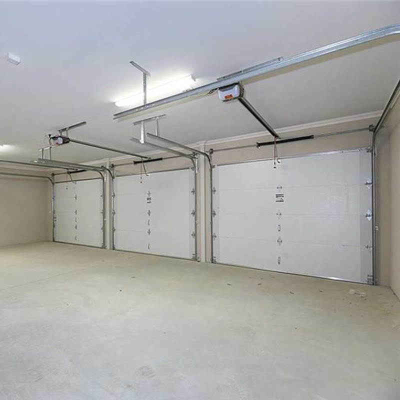 garage door inside in insulated sectional door inside view garage doors perth industries